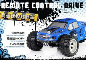 Wltoys A979 1/18 2.4Gh 4WD Monster Truck Blue Color Ready to Run
