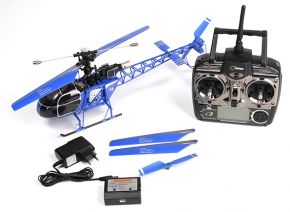 WLtoys V915 2.4G 4CH Scale Lama RC Helicopter RTF BLUE COLOR