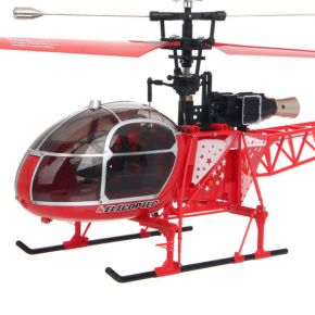 WLtoys V915 2.4G 4CH Scale Lama RC Helicopter RTF RED COLOR