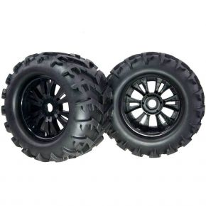 1/8 Rubber Tires With Wheel Sets T810006 150mm Fit RC HSP 1:8 Monster Truck