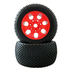 1/8 Scale Rubber Tires With Wheel Sets T810015 140mm Fit RC HSP 1:8 Monster Truck 2PC