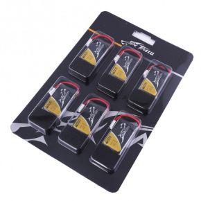 Tattu 25C 1S 3.7 v 600mah Lipo Battery Pack with Molex Plug (6pcs)