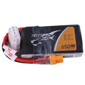 Tattu 650mAh 2S1P 75C 7.4V Lipo Battery Pack with XT30 Plug TA-75C-650-2S1P-XT30