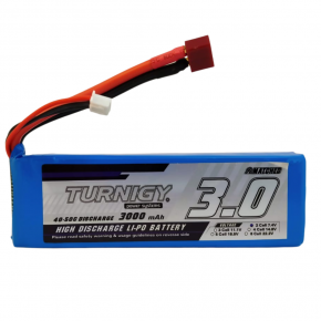 Turnigy 3000mAh 2S 40C Lipo Pack w/Dean Connector