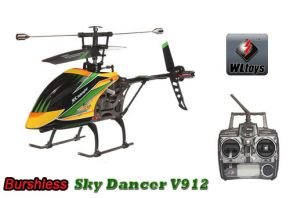WLtoys V912 4CH Brushless RC Helicopter With Gyro RTF