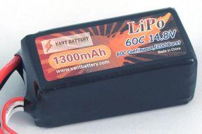 Vant 1300mAh 14.8V 60C 4S1P Lipo Battery Pack