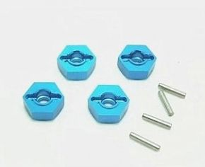 12mm Aluminum Hex Wheel Hub Blue