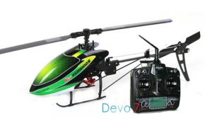 Walkera New V120D02S 6-Channel 3D 6-Axis Flybarless Brushless RTF with DEVO 7 Mode 2