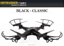 Quadcopter - Moontop M9918 (BLACK) with 2 Mega Pixel Camera RC Quadcopter of 6 Axis Gyro 2.4GHz 3D Flying Drone Lighting Mini Aircraft