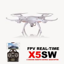 Syma X5SW Wifi FPV Real-time 2.4G QuadCopter Mode 2 Ready to Run WHITE 300,000 Pixels Camera