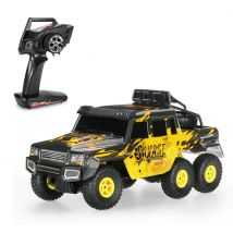 WLtoys 18629 1:18 6WD RC Climbing Car - RTR  -  YELLOW AND BLACK