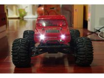 HL3851-6 1:10 Monster Truck Brushed version with HUMMER RED bodyshell - Ready to Run