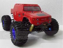 HL3851-6 1:10 Monster Truck Brushless version with HUMMER Red bodyshell - Ready to Run