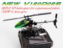 Walkera New V120D02S 6-Channel 3D 6-Axis Flybarless Brushless RTF with DEVO 7E Mode 2