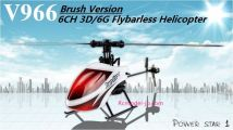 WLtoys V966 Power Star 1 6CH 3D 6-Axis Gyro Flybarless RC Helicopter