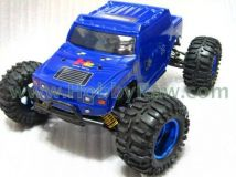 HL3851-6 1:10 Monster Truck with HUMMER blue bodyshell - Brushed motor - Ready to Run