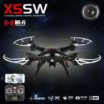 Syma X5SW Wifi FPV Real-time 2.4G QuadCopter Mode 2 Ready to Run BLACK 300,000 pixel camera