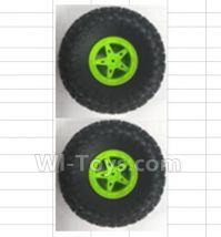 Wltoys 18428-B Car Spare Parts-0542-002 Wheel 2pcs - Green